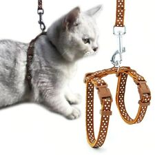 Collar for Cats & Dogs Harness Leash Adjustable Nylon Traction Reflective belt