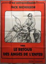 Affiche RETOUR DES ANGES DE L'ENFER Hells Angels on Wheels MOTO Jack Nicholson*