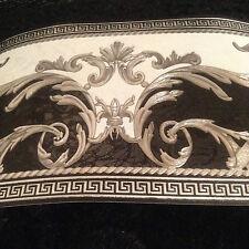 wunderschöne Barock Bordüre SCHWARZ,WEISS,SILBER  5m lang 17,7 cm breit 2017