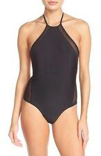 Issa de' de mar 'Brooklyn' High Cut One-Piece Swimsuit Black M Medium