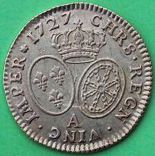 FRANCE LOUIS XV LOUIS D'OR AUX LUNETTES 1727 A