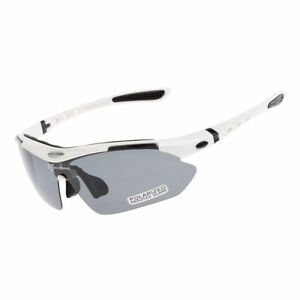 ROCKBROS Polarized Cycling Sunglasses Bike Goggles Riding Hiking Glasses White