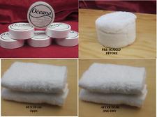 6 x Compressed Towel Tablets Travel Flannel 100% cotton 60x30cm reusable 50g ea
