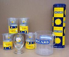 6 verres ballon RICARD série 5 continents SUN FROM AFRICA BURKINABE + seau boite