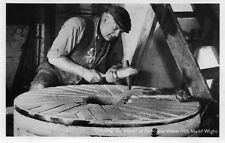 Postcard  Isle of Wight  Dressing the Stone  at Calbourne water- mill  posted