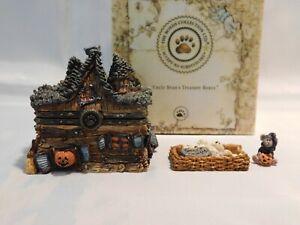 "Boyds Halloween Treasure Box ""BORIS' HAUNTED HOUSE w/WIZ MCNIBBLE"" - 1E - Mint"