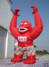 20ft Inflatable Red Gorilla Advertising Promotion with Blower S
