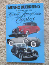 Menno Duerksens History of the Great American Classics 1987 Paperback Awesome!!