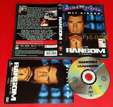 RANSOM IL RISCATTO (Mel Gibson, Ron Howard) Dvd 1ª Ed. SIAE Rosa USATO ET