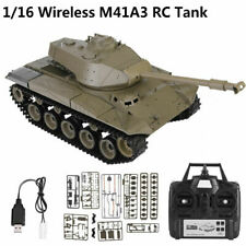 1/16 Heng Long 3839-1 M41A3 2.4Ghz Wireless Rc Tank Simulation Military Model