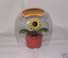 Light Activated Solar Dancing Sunflower Leaves W/Veins & Flower Move Red New