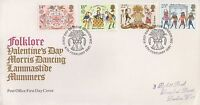 1981 FOLKLORE VALENTINES'S DAY FIRST DAY COVER WITH LONDON POSTMARK