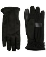 Isotoner Men's Stretch smarTouch Touchscreen Texting Cold Weather Gloves Black