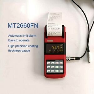 """WONTEST MT2600 Portable Paint Coating Thickness Gauge 2.7"""" OLED w/ 1 Probe pans"""