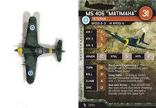 Axis & Allies Angels 20 miniatures 1x x1 MS.406 Matimaha base set Air Force