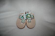 Women Jack Rogers Peacock Print Whipstitch  Flip Flop Sandal Shoe Size 6 M