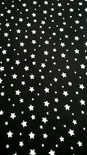 "Stars jersey lycra stretch PJ 'S Combishort Moulante tissu 60"" Largeur Noir/Blanc"