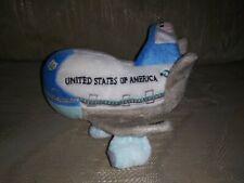 """Daron Toys Unites States Of America Plush Plane Jet 6"""" W Sound Blue Gray..."""