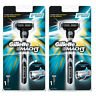 2 Pack Gillette Mens Mach3 Razor Handle with 1 Cartridge