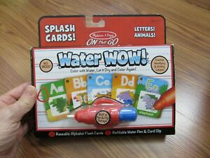 MELISSA & DOUG, NEW WATER WOW SPLASH CARDS; LETTERS! ANIMALS! AGES 3+