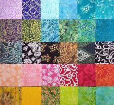 """60 Pcs. Precut  3"""" Squares Indonesian Batik 100% Cotton for Quilting / Patchwork"""