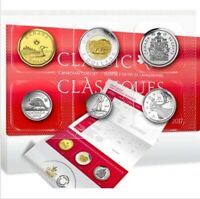 2017 6-Coins Classic Canada Uncirculated Set: $2 $1, 50cent 25cent 10cent 5cent.