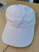 New Abercrombie & Fitch Khaki Embroidered Logo Baseball Cap One Size