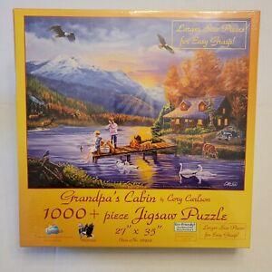 Grandpas Cabin by Cory Carlson SunsOut 1,000+ Piece Jigsaw Puzzle NIB MIB Sealed