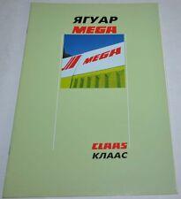 Claas Combine Harvester Jaguar Mega Landmaschinen Tractor Brochure Prospekt