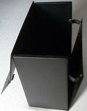 "Vintage Record Carry Storage Case Box LPs Black 1970s Albums 12"" Retro"