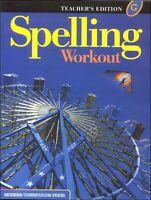 7th Grade 7 MCP Spelling Workout Level G Teacher Edition Modern Curriculum Press