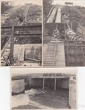 * BELGIUM - 3 Photopostcards - Dam Construction, Liège - Italian worker 1930