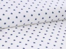 0,5m Cotton Fabric Coated Acrylic, Oilcloth, White dunklblau Stars Pattern