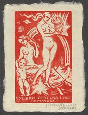 Holzschnitt Exlibris WALTER CLEMENS SCHMIDT (Frankfurt) 1920 | Akte