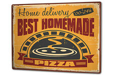 Tin Sign XXL Kitchen Pizza metal plate plaque