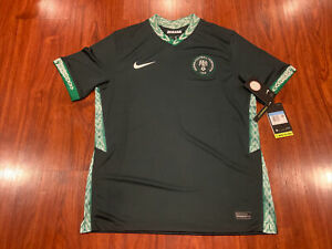 2020-21 Nike Breathe Men's Nigeria Away Soccer Jersey Medium M Super Eagles
