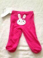 NWT Koala Kids baby girl 0-3 months pants pink bunny Happy Easter
