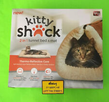 ❤️Kitty Shack 2-in-1 Tunnel Bed Pet Mat Cat Puppy AS SEEN ON TV Fur Cozy Cave❤️