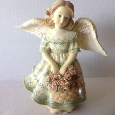 "Betty Singer ANGELS AMONG US "" Love "" 2002 Figurine fully Hallmarked"