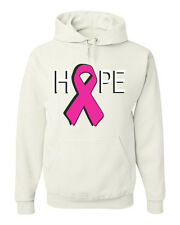 Hope Breast Cancer Awareness Sweatshirt Pink Ribbon Hoodie Cure Support Walk Run