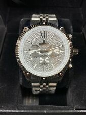Men's Ice Time Genuine Diamond Watch 45mm Stainless Steel Royal