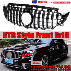 Front Grille For Mercedes Benz W213 E-Class Black 2016-2018 AMG GT R Look Grill