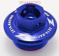 ZETA ZE89-2112 BLUE Oil Filler Plug YZ80 YZ85 YZ125 YZ250 YZ250F YZ450F YFZ450