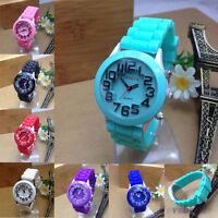 HOT Kids Boys Girls Watch Fashion Casual Silicone Jelly Rubber Quartz Wristwatch