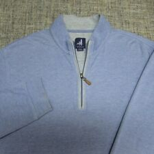 JOHNNIE-O 1/4 ZIP COTTON LYOCELL POLY SWEATSHIRT--L--TOP SPOTLESS QUALITY