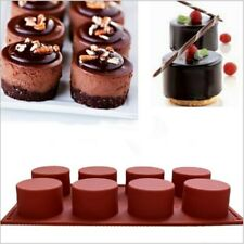8 trous rond Silicone gâteau moule 3D à la main Cupcake gelée Cookie Mini