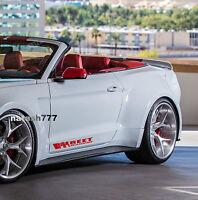 STREET RACING Sport Car Vinyl Decal sticker emblem RED Fits: FORD MUSTANG GT 5.0