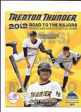2012 Trenton Thunder Programs schedule and ticket.