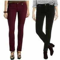 Buffalo Ladies' Velvet Skinny Pant Cotton Stretch 5 Pocket Black
