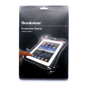 BROOKSTONE Clear Pouch Sleeves for iPad & Tablets Water Resistant NEW PACK OF 3